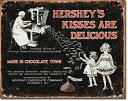 1769HERSHEY'S Kissesハーシー チョコレートアメリカン雑貨 ブリキ看板Tin Sign ティンサイン3枚以上で送料無料!