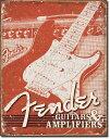1860Fender Weathered G&Aフェンダー ギター アンプアメリカン雑貨 ブリキ看板Tin Sign ティンサイン3枚以上で送料無料!