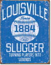 1867Louisville Slugger Blueルイスビルスラッガー ルイビルアメリカン雑貨 ブリキ看板Tin Sign ティンサイン3枚以上で送料無料!