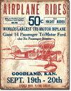1872Secrist Flying Circus飛行機 ポスターアメリカン雑貨 ブリキ看板Tin Sign ティンサイン3枚以上で送料無料!