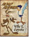 1888Roadrunner & Wyle Eロードランナー コヨーテアメリカン雑貨 ブリキ看板Tin Sign ティンサイン3枚以上で送料無料!