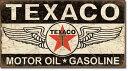 1896Texaco Winged Logo<br>テキサコ オイル ガソリンアメリカン雑貨 ブリキ看板Tin Sign ティンサイン3枚以上で送料無料!