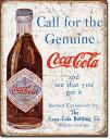 1918COKE - Call for the Geniuneコカコーラ コーク ヴィンテージ ボトルアメリカン雑貨 ブリキ看板Tin Sign ティンサイン3枚以上…