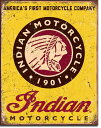 1934Indian Motorcycles since 1901インディアン ロゴ マークアメリカン雑貨 ブリキ看板Tin Sign ティンサイン3枚以上で送料無料!