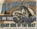 1936Allways Cast Walleyeフィッシング ルアー バス トラウトアメリカン雑貨 ブリキ看板Tin Sign ティンサイン3枚以上で送料無料!