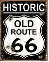 1938Old Route 66 Weatheredオールド ルート 66 銃弾跡アメリカン雑貨 ブリキ看板Tin Sign ティンサイン3枚以上で送料無料!