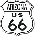 0169US Route 66 ARIZONA ルート66 アリゾナアメリカン雑貨 ブリキ看板Tin Sign ティンサイン3枚以上で送料無料!