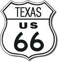 0176US Route 66 TEXAS ルート66 テキサスアメリカン雑貨 ブリキ看板Tin Sign ティンサイン3枚以上で送料無料!