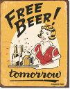 1290FREE BEER フリー ビールアメリカン雑貨 ブリキ看板Tin Sign ティンサイン3枚以上で送料無料!