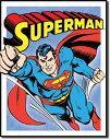1402Superman Retro Flyingスーパーマン レトロアメリカン雑貨 ブリキ看板Tin Sign ティンサイン3枚以上で送料無料!