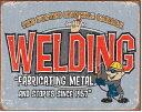 1527BKG WERDINGガレージ ピット 溶接アメリカン雑貨 ブリキ看板Tin Sign ティンサイン3枚以上で送料無料!