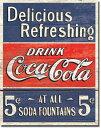 1619Coca-Cola Coke 5Centsコカコーラ コークアメリカン雑貨 ブリキ看板Tin Sign ティンサイン3枚以上で送料無料!