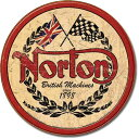 1705Norton Logoノートン ロゴアメリカン雑貨 ブリキ看板Tin Sign ティンサイン3枚以上で送料無料!