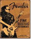 1765Fender ROCK ONフェンダー エレキ ストラトキャスターアメリカン雑貨 ブリキ看板Tin Sign ティンサイン3枚以上で送料無料!