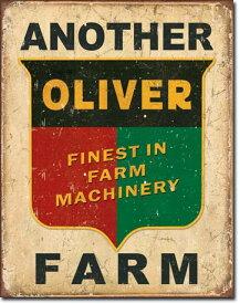 1775ANOTHER OLIVER FARM LOGO MARKオリバー ファーム トラクター ロゴマークアメリカン雑貨 ブリキ看板Tin Sign ティンサイン3枚以上で送料無料!