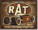 1783Torque Rat Rod/Hot Rodホットロッド ガレージアメリカン雑貨 ブリキ看板Tin Sign ティンサイン3枚以上で送料無料!