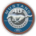 1206Ford Mustang 40th フォード マスタングアメリカン雑貨 ブリキ看板Tin Sign ティンサイン3枚以上で送料無料!