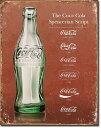 1952COKE Script Heritage Bottleコカコーラ コーク ボトル ロゴアメリカン雑貨 ブリキ看板Tin Sign ティンサイン3枚以上で送料無…