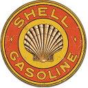1964Shell Gasoline 1920's Roundシェル ガソリン モーターオイルアメリカン雑貨 ブリキ看板Tin Sign ティンサイン3枚以上で送料無…