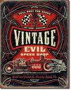 1972Vintage Evil-Hell Bent Rodsビンテージ エビル ホットロッドアメリカン雑貨 ブリキ看板Tin Sign ティンサイン3枚以上で送料無…