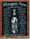 1976Hungover Cures Beerハングオーバー ビール ビアアメリカン雑貨 ブリキ看板Tin Sign ティンサイン3枚以上で送料無料!
