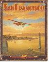 1985San Francisco Western Airサンフランシスコ ウエスタンエアーアメリカン雑貨 ブリキ看板Tin Sign ティンサイン3枚以上で送料無…