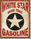 1999White Star Gasolineホワイトスター ガソリンアメリカン雑貨 ブリキ看板Tin Sign ティンサイン3枚以上で送料無料!