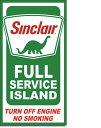 2050Sinclair Service Islandシンクレアアメリカン雑貨 ブリキ看板Tin Sign ティンサイン3枚以上で送料無料!