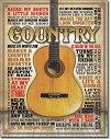 2030Country - Made in Americaミュージック エレキギター パネルアメリカン雑貨 ブリキ看板Tin Sign ティンサイン3枚以上で送料無…
