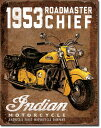 19321953 Indian Roadmaster インディアンアメリカン雑貨 ブリキ看板Tin Sign ティンサイン3枚以上で送料無料!