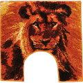 インパクト抜群個性的なライオン柄トイレマット北欧直輸入