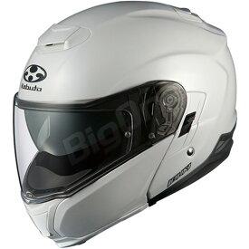 【ヘルメット】 OGK IBUKI パールホワイト PEARL WHITE 真珠色 Mサイズ オージーケー カブト イブキ システムヘルメット