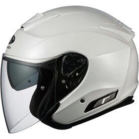 【ヘルメット】 OGK ASAGI パールホワイト PEARL WHITE Lサイズ オージーケー カブト アサギ オープンフェイス