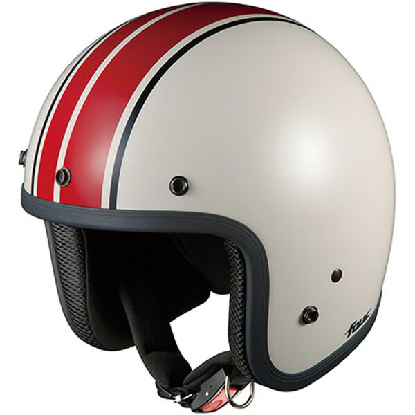 【ヘルメット】 OGK FOLK G1 ホワイトレッド WHITE RED 57-59cm オージーケー カブト フォーク