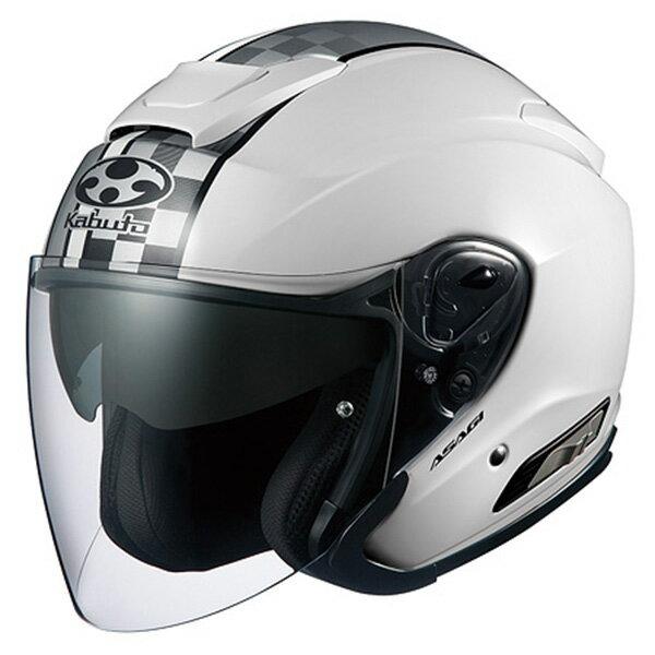 【ヘルメット】 OGK ASAGI SPEED ホワイト WHITE 白 Sサイズ オープンフェイス オージーケー アサギ スピード