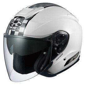 【ヘルメット】 OGK ASAGI SPEED ホワイト WHITE 白 Mサイズ オープンフェイス オージーケー アサギ スピード