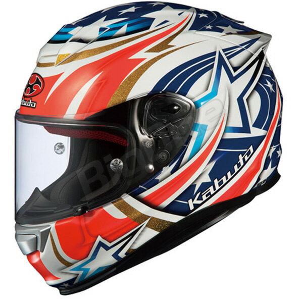 【ヘルメット】OGK RT-33 ACTIVE STAR ホワイト WHITE 白 Lサイズ オージーケー KABUTO アールティー33 アクティブ スター フルフェイス