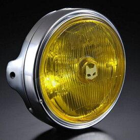マーシャル 【汎用 ヘッドライト】 889 ドライビングランプフルキット イエローレンズ メッキケース