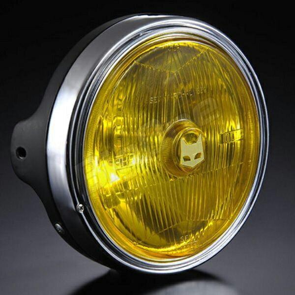 在庫完売マーシャル 【汎用 ヘッドライト】 889 ドライビングランプフルキット イエローレンズ ブラックケース