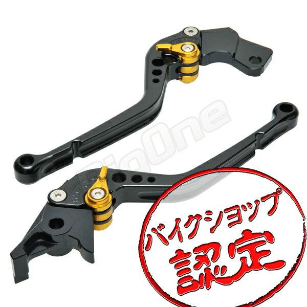 【ビレットレバー】 レバーセット R-Type 黒/金 RF400RV GSX400S刀 アクロス バンディット250-V前期 バンディット400-2/V BANDIT250-2 バンディット250-1 GSX-R750