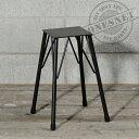 鉄脚 スツール 4つ足 42cm DIY パーツ 黒皮鉄 アイアンフレーム 鉄脚 STOOL IRON LEG 什器 家具のリメイク DIY素材 イ…