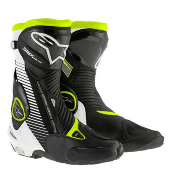 【ブーツ】【alpinestars】 SMX PLUS BOOT 1015 ブラック/ホワイト/蛍光 イエロー 黒/白/黄 BLACK/WHITE/YELLOW FLUO 44 (28.5cm) アルパインスターズ aスター エースター