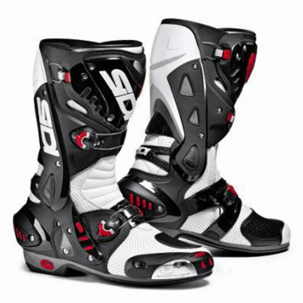【シューズ】【SIDI】 RACING VORTICE AIR BOOT ホワイト/ブラック WH/BK 42 (26.5cm) シディ ヴォルティス エアー レーシング ブーツ 靴 シューズ