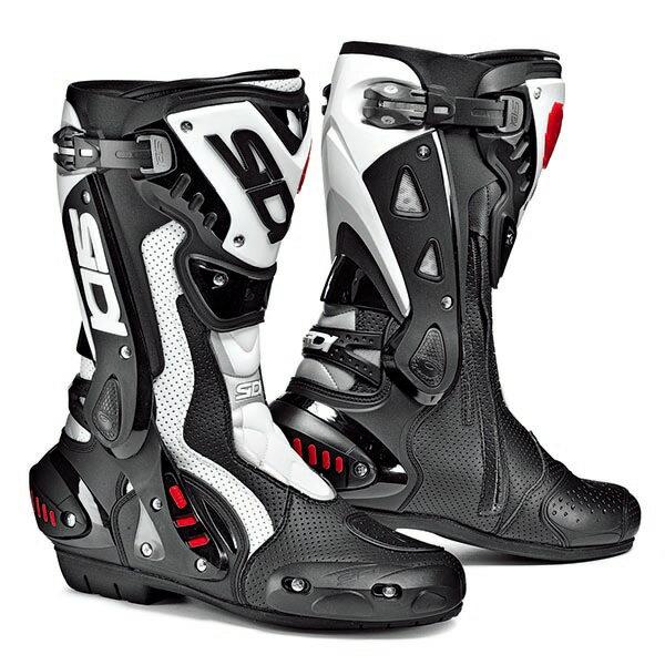 【シューズ】【SIDI】 RACING ST AIR BOOT ブラック/ホワイト BK/WH 43 (27.0cm) シディ エスティー エアー レーシング ブーツ 靴 シューズ
