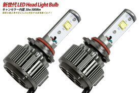LED ヘッドライトバルブ 30w 3000lm(H8/H9/H11) (キャンセラー&ノイズフィルター付!)輸入車使用可能!高輝度LED使用。オールインワンバルブ 送料無料!