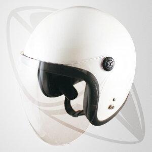 ジェット型ヘルメット パールホワイト(白)(bjl65sr)ジェットヘル・全排気量対応・SG規格認定・フリーサイズ 送料無料(一部地域除く)