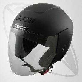 ジェット型ヘルメット マッドブラック(bzr-10)ジェットヘルメット(SG規格認定・全排気量OK・freeサイズ58~59cm)