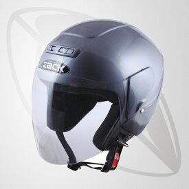 ジェット型ヘルメット チタンシルバー(bzr-10)ジェットヘルメット【SG規格認定】【全排気量OK】【freeサイズ58~59cm】