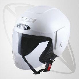 ジェット型ヘルメット パールホワイト(bzr-10)ジェットヘルメット(SG規格認定・全排気量OK・freeサイズ58~59cm)