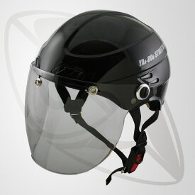 半キャップ/ハーフヘルメット ブラック(bst-z-jt)デザイン性を追求 斬新なフォルム (SG規格認定・125cc以下対応・Freeサイズ)